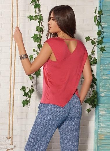 Gizzey Kadın Pijama Takım Kırmızı